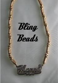 Gold Name Plate Necklace Bling Beads Designer Jewelry And Wear 14k All Gold Nameplate
