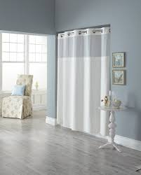 No Liner Shower Curtain Curtain Bathroom Curtains And Shower Curtains Hookless Shower