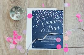 Wedding Invitations Kerry Midnight Confetti Wedding Invitations By All You Need Is Love Kerry