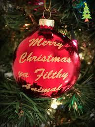 amazon com tree buddees merry christmas ya filthy animal glass