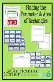 Worksheet Works Calculating Area And Perimeter Answers Perimeter And Area Of Rectangles The Curriculum Corner 4 5 6