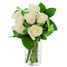 flowers arrangement kabloom white roses fresh flower arrangement with vase target