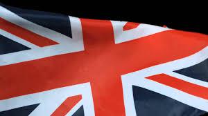 Great Britain Flag Uk Flag Flying Slow Motion United Kingdom Union Jack Waving On