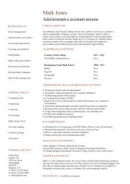 Resume Examples Administrative Assistant by Example Of Good Personal Statement Medical