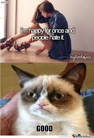 Cat Meme Ladies - grumpy cat vs tumblr girl by daten4 meme center