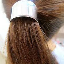hair cuff hot 2pcs set alloy hemicycle ring hair cuff wrap ponytail