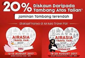 airasia travel fair airasia travel fair bakal dianjurkan di sibu dan sandakan airasia
