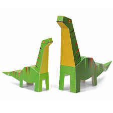 maxi diplodocus paper toys diy paper craft kit 3d paper