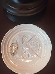 monogrammed ring floral monogrammed ceramic ring soap dish