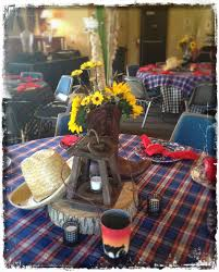 awesome country western themed centerpieces and table settings