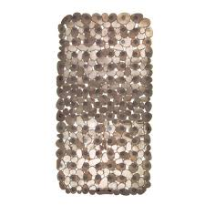 shop amazon com bath rugs interdesign pebblz non slip suction bath mat for shower bathtub amber