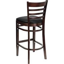 Ladder Back Bar Stool Furniture Black Leather Swivel Counter Height Stools Chairs