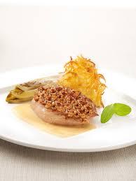 recette de cuisine filet de faisan filet de faisan aux noisettes sauce au calvados chicons et galette