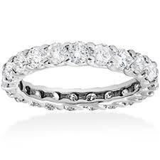 white gold eternity ring 3ct trellis diamond eternity wedding ring 14k white