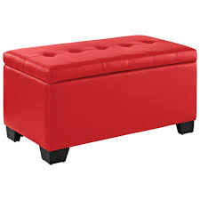 cheap faux leather ottoman creative of red storage ottoman elijah faux leather storage ottoman