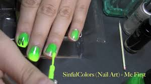 exclusive black light glowing green u0026 yellow nail design youtube