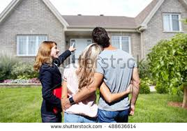 real estate agent woman clients near stock photo 488636614