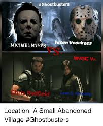 Jason Voorhees Meme - ghostbusters jason voorhees michael myers ma gcvs on s location a