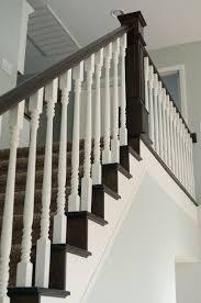 Staining Stair Banister Best 25 Black Banister Ideas On Pinterest Staircase Remodel