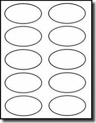 2 X 4 Label Template 10 Per Sheet Oval Labels 3 25 X 2 Inch 10 Stickers Per Sheet White Laser Or