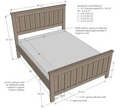 Queen Size Platform Bed Plans Free by Ana White Kentwood Bed Diy Projects