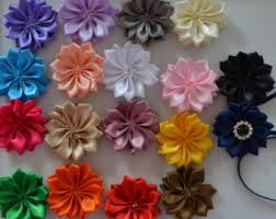 flower decoration for hair ribbon flowers etsy