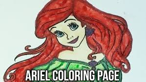 disney coloring book ariel speed coloring glitter