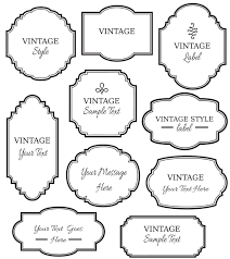 vintage labels clip digital frame vector eps editable