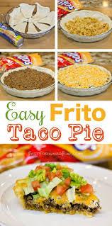 idee de plat simple a cuisiner frito taco pie with a crescent dough crust entrée entrées et cuisiner