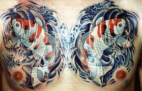 koi fish on chest by matthew amey independent