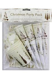 christmas party pack 4 8 12 tableware party set gold cream paper