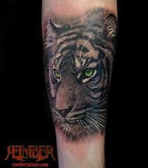 rember age studio black and grey realism tiger