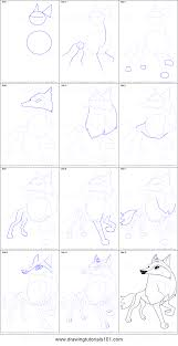 wolf drawing step by step roadrunnersae