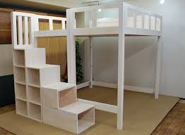 Diy Loft Bed With Stairs Plans by Full Size Loft Bed With Stairs Storage And Desk U2013 Home Improvement