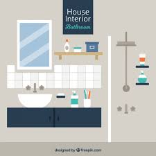 design bathroom free modern bathroom in flat design vector free