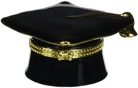 buy graduation cap cosmos 10415 porcelain graduation hat hinged box 1 5 8 inch