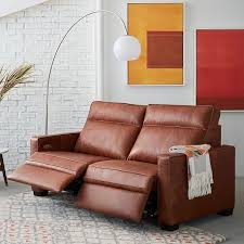 henry leather power recliner sofa 77