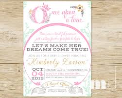 cinderella invitation template once upon a time baby shower invitations fairytale baby