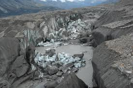 a river disappears as yukon glacier retreats geologic event at