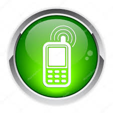 button cell phone icon u2014 stock vector maxsim 11637778