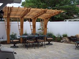 cantilever pergola over unilock paver patio pergolas pinterest