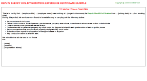 Free Sle Letter Of Employment Certification Civil Work Experience Letters