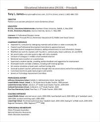 elementary resume template elementary school principal resume best resume collection