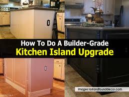 builder grade how to do a builder grade kitchen island upgrade