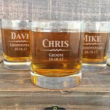 engraved whiskey glasses groomsmen gift glasses gifts for