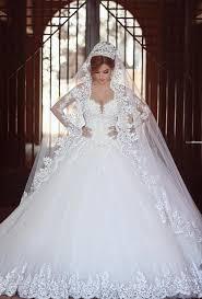 wedding dresses fluffy princess wedding gowns sleeves wedding dress