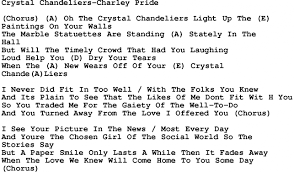 light of the world chords country music crystal chandeliers charley pride lyrics and chords