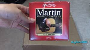 Light Guitar Strings by Martin M140 Bronze Acoustic Guitar Strings Light Unboxing And