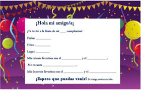 spanish birthday invitations spanish birthday invitations with a