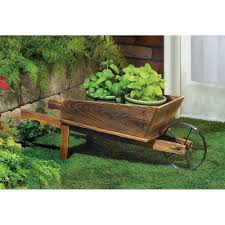 wholesale rustic wheelbarrow garden decor country flower cart planter